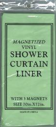12 Bulk Shower Curtain Jm Liner Green