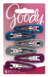 12 Units of Goody Glitter Snap Clips - Hair Rollers