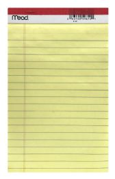 24 Wholesale Mead 5 X 8 Junior Legal Pad Canary