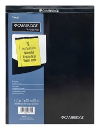 6 Wholesale Mead Cambridge Writing Pads Wide Ruled 70 Sheets
