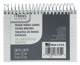 12 Units of Mead Wirebound Ruled Index Cards - Dividers & Index Cards