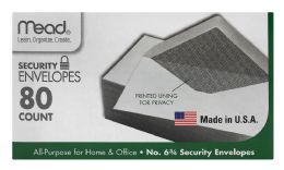 12 Wholesale Mead #6 3/4 Security Envelopes White #6 3/4