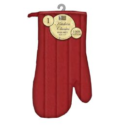 6 Units of Oven Mitt Solid Quilted - Oven Mits & Pot Holders
