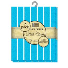 12 Units of Micro Dsh Cloth Asst Strps 2pk - Kitchen Towels