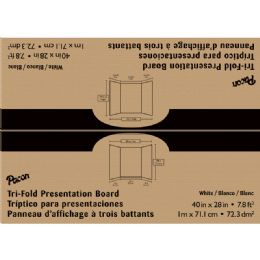 8 Units of White Presentation Board 40x28 - Bulletin Boards & Push Pins