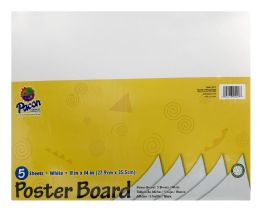 12 Wholesale Pacon Coated Poster Board, 11 Inch X 14 Inch, 5 Sheets