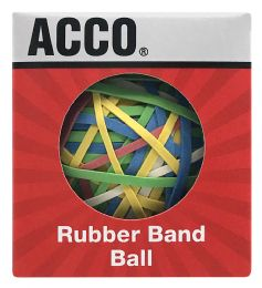 24 Units of Acco Rubber Band Ball, 275 Bands Per Ball - Rubber bands