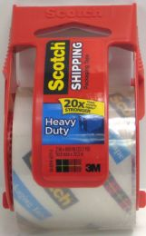 12 Units of 3m Scotch Heavy Duty Shipping Packaging Tape With Dispenser - Tape & Tape Dispensers