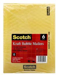 6 Units of Scotch Kraft Bubble Mailers 6 - Envelopes