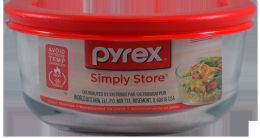 12 Units of Pyrex 2 Cup Rnd Strge W/redlid - Kitchen Tools & Gadgets