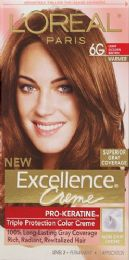 6 Units of L'oreal Paris Excellence Crme Permanent Triple Protection Hair Color, 6g Light Golden Brown, 1 Kit - Hair Products