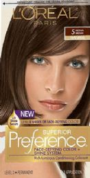 6 Units of L'oreal Paris Superior Preference FadE-Defying Shine Permanent Hair Color, 5 Medium Brown, 1 Kit - Hair Products