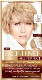6 Units of L'oreal Paris Age Perfect Permanent Hair Color, 9n Light Natural Blonde, 1 Kit - Hair Products