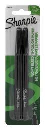 12 Units of Sharpie 0.8 Mm Fine Point Pens, Black, 2 Count - Pens