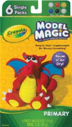 4 Units of Model Magic Clay 6ct Prim Clrs - Clay & Play Dough