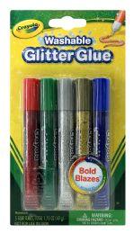 6 Units of Crayola Washable Glitter Glue - Glue