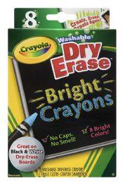 12 Units of Crayola Washable Dry Erase Bright Crayons - Crayon