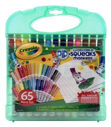 6 Bulk Crayola Washable PiP-Squeaks Markers & Paper Set