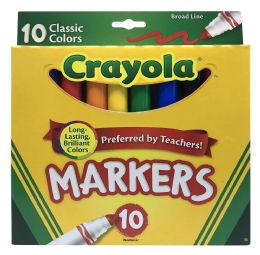 6 Bulk Crayola Markers 10 Classic Colors