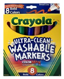 12 Bulk Crayola UltrA-Clean Washable Markers 8 Bold Color