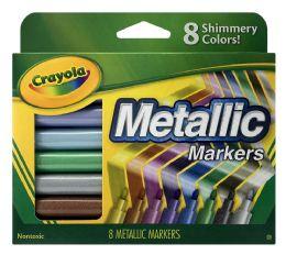 6 Bulk Crayola 8 Metallic Markers