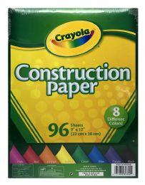 12 Units of Crayola Construction Paper - Paper