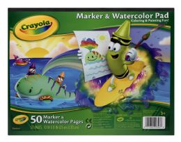 12 Units of Crayola Marker & Watercolor Pad - Books