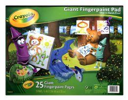 12 Units of Crayola Giant Fingerpaint Pad - Arts & Crafts