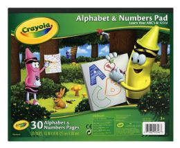 6 Units of Crayola Alphabet & Numbers Pad - Note Books & Writing Pads