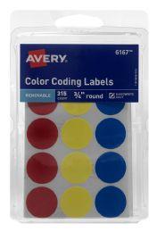 12 Wholesale Avery Removable Color Coding Labels