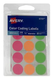 12 Units of Avery Color Coding Lables - Labels