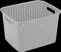 12 Wholesale Ster Tall Weave Basket Cement