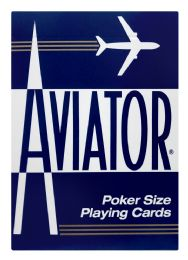 12 Units of Aviator Poker Size Playing Cards - Card Games