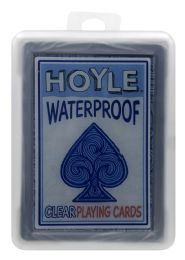 6 Units of Hoyle Waterproof Clear Playing Cards - Card Games