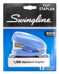 6 Units of Swingline Tot Stapler, BuilT-In Staple Remover, 12 Sheets, Assorted Colors - Staples & Staplers
