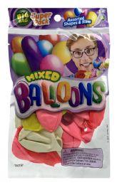 12 Wholesale JA-Ru Mixed Balloons