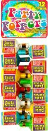 12 Wholesale Champ Party Poppers 12pk 4x10