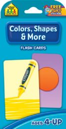 8 Units of Flash Cards Colors And Shapes - Educational Toys
