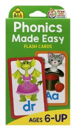 8 Units of School Zone Phonics Made Easy Flash Cards - Educational Toys