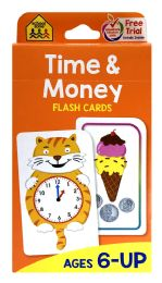 8 Units of School Zone Time & Money Flash Cards - Educational Toys