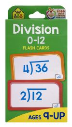 8 Units of School Zone Division 0-12 Flash Cards - Educational Toys