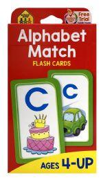 8 Units of School Zone Alphabet Match Flash Cards - Educational Toys
