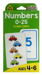 8 Units of School Zone Numbers 0-25 Flash Cards - Educational Toys