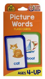 8 Units of School Zone Picture Words Flash Cards - Educational Toys