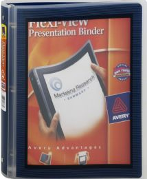 24 Units of Avery FlexI-View Binder With 1 Inch Round Ring, Assorted Colors - Binders