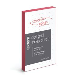 36 Units of Oxford Dot Grid Index Cards, 3 Inch X 5 Inch, 50 Per Pack - Dividers & Index Cards