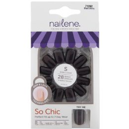 4 Units of So Chic Short Nails Blk Cherry - Nail Polish