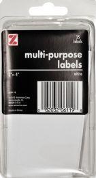 12 Wholesale Z International Multi Purpose Labels, White, 2 Inch X 4 Inch, 35 Labels