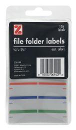 12 Wholesale Z International File Folder Labels, Assorted, 9/16 Inch X 2 Inch, 126 Labels