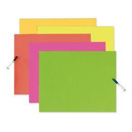 50 Wholesale Posterboard 22x28 Neon Asstclr